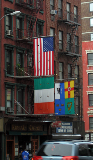Flags at Kinsale Tavern NYC
