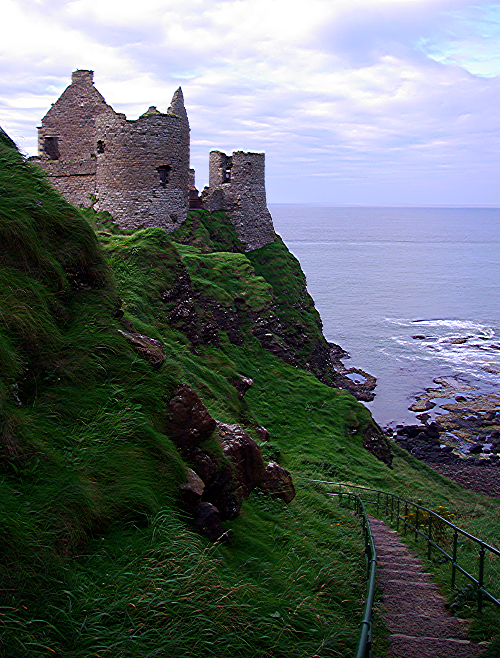Dunluce Castle near sunset