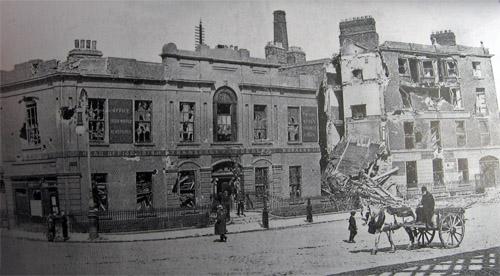 Liberty Hall destroyed, 1916