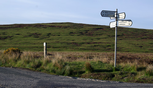 Sign at Sally Gap