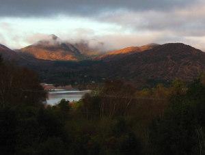 View of Glengarriff from B&B