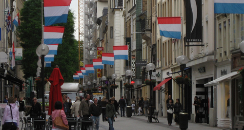 Grand Rue before National Day