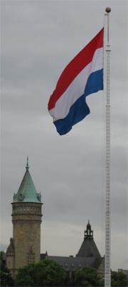 Flag at Place de la Constitution