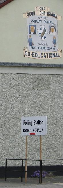 Polling Place, Lower Baggot entrance
