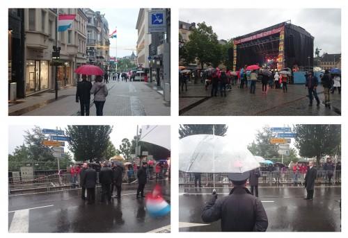 Pre-parade rain
