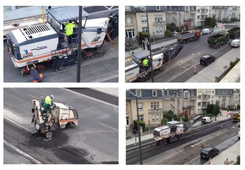 Day 1 - street repaving