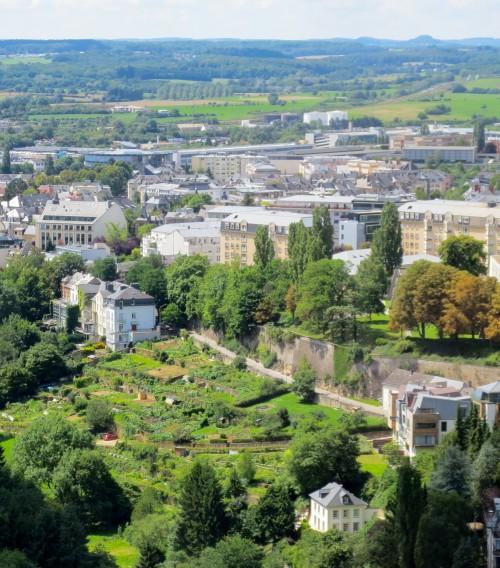 Gardens along Pétrusse Valley